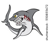 vector illustration  shark | Shutterstock .eps vector #550855672