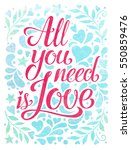 valentines day lettering....   Shutterstock . vector #550859476