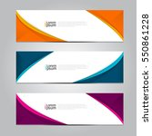vector design banner background. | Shutterstock .eps vector #550861228