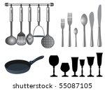 frying pan | Shutterstock .eps vector #55087105
