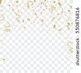 gold confetti celebration | Shutterstock .eps vector #550876816