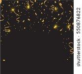gold confetti celebration... | Shutterstock .eps vector #550876822