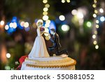 marriage proposal on bended... | Shutterstock . vector #550881052