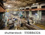 workshop on production of... | Shutterstock . vector #550886326
