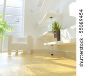 3d rendering of modern study... | Shutterstock . vector #55089454