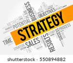 strategy word cloud collage ... | Shutterstock .eps vector #550894882