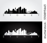 sydney skyline and landmarks... | Shutterstock .eps vector #550895665