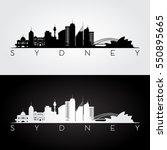 sydney skyline and landmarks... | Shutterstock .eps vector #550895665