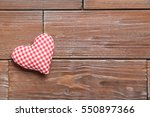 Love Heart On A Brown Wooden...