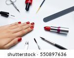 professional manicure. closeup... | Shutterstock . vector #550897636