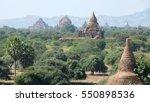 bagan pagoda myanmar under... | Shutterstock . vector #550898536