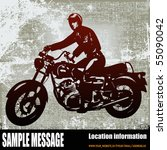 motorcyclist background | Shutterstock .eps vector #55090042