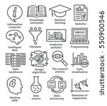 business management icons in...   Shutterstock .eps vector #550900546