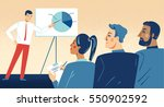 business presentation. man from ... | Shutterstock .eps vector #550902592