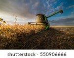 harvesting of soybean field in...   Shutterstock . vector #550906666