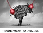 headache pain and pounding... | Shutterstock . vector #550907356