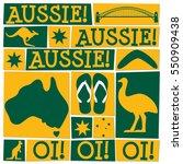 funky australia day card in... | Shutterstock .eps vector #550909438