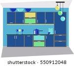 kitchen blue | Shutterstock .eps vector #550912048