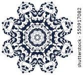 decorative round ornate mandala ... | Shutterstock .eps vector #550917082