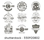 vintage car service badges ... | Shutterstock . vector #550920802
