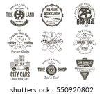 vintage car service badges ... | Shutterstock . vector #550920802