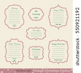 vector set of vintage christmas ... | Shutterstock .eps vector #550921192