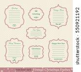 vector set of vintage christmas ... | Shutterstock .eps vector #550921192
