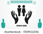 man and woman  hands icon... | Shutterstock .eps vector #550922356