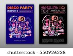 two options of disco party... | Shutterstock .eps vector #550926238