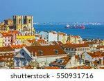 lisbon panoramic view  portugal.   Shutterstock . vector #550931716