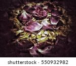 grunge flower background texture | Shutterstock . vector #550932982
