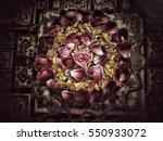 grunge flower background texture | Shutterstock . vector #550933072