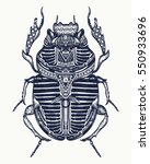 scarab tattoo  ancient egypt... | Shutterstock .eps vector #550933696