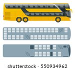 isometric double decker bus or  ... | Shutterstock .eps vector #550934962