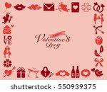 valentine icon frame | Shutterstock .eps vector #550939375