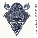 viking warrior tattoo. northern ... | Shutterstock .eps vector #550941586