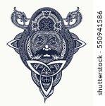 viking warrior tattoo  t shirt...   Shutterstock .eps vector #550941586