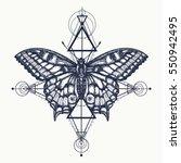 butterfly tattoo  geometrical...   Shutterstock .eps vector #550942495