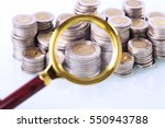 money under loupe. zoom on home ... | Shutterstock . vector #550943788