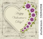happy valentines day lettering... | Shutterstock .eps vector #550943908