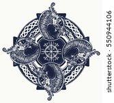 celtic cross tattoo art and t...   Shutterstock .eps vector #550944106