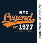 new york typography  t shirt... | Shutterstock .eps vector #550944292