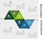 infographic design template... | Shutterstock .eps vector #550947538