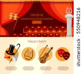 theater infographics  comedy... | Shutterstock .eps vector #550948216