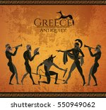 ancient greece scene. black... | Shutterstock .eps vector #550949062