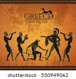 ancient greece scene. black... | Shutterstock .eps vector #550949062