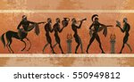 ancient greece scene. black... | Shutterstock .eps vector #550949812