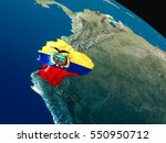 ecuador with embedded national... | Shutterstock . vector #550950712