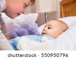 six year old toddler sharing... | Shutterstock . vector #550950796