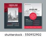 flyer   leaflet   brochure  ... | Shutterstock .eps vector #550952902